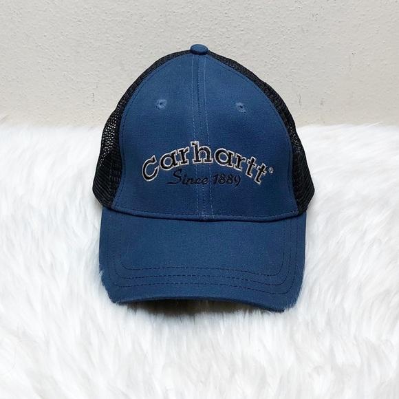Carhartt Mesh Snapback Blue & Black Hat One Size